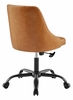 Distinct Tan Vegan Leather Button Tufted Office Chair by Modway