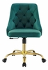 Distinct Teal Performance Velvet Button Tufted Office Chair by Modway