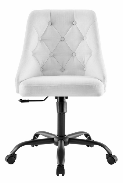 Distinct White Fabric Button Tufted Office Chair by Modway
