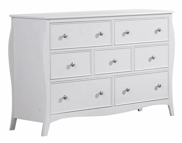 Dominique 5-Pc White Wood Twin Panel Bedroom Set by Coaster