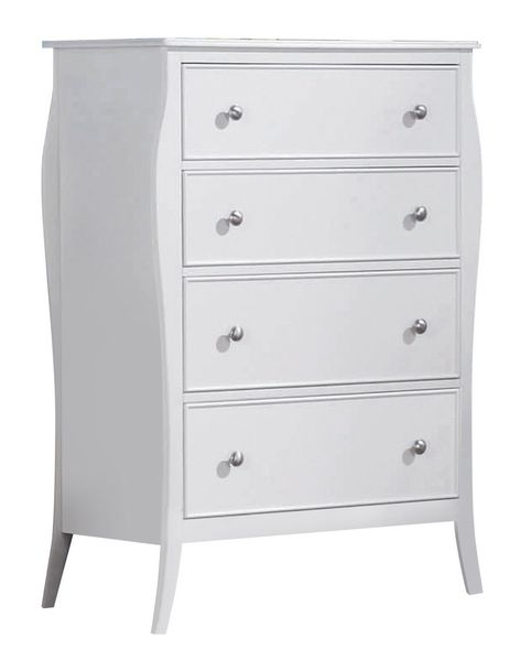 Dominique White Wood 4-Drawer Chest by Coaster