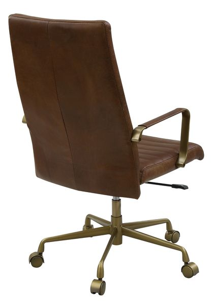 Duralo Saturn Leather/Metal Office Chair by Acme
