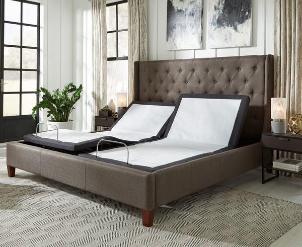 Eir Cal King Split Adjustable Power Bed Base by South Bay