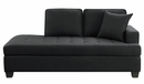 Elmont Black Textured Fabric Chaise by Homelegance