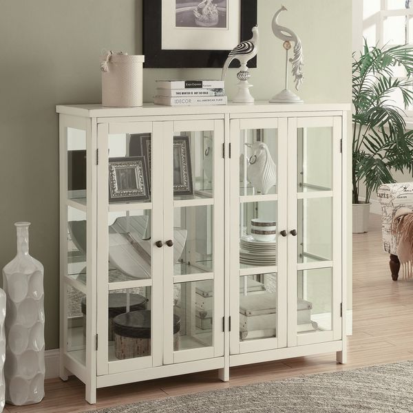 Eufemia White Wood Accent Cabinet by Coaster