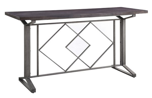 Evangeline Salvaged Brown Wood/Metal Counter Height Table by Acme