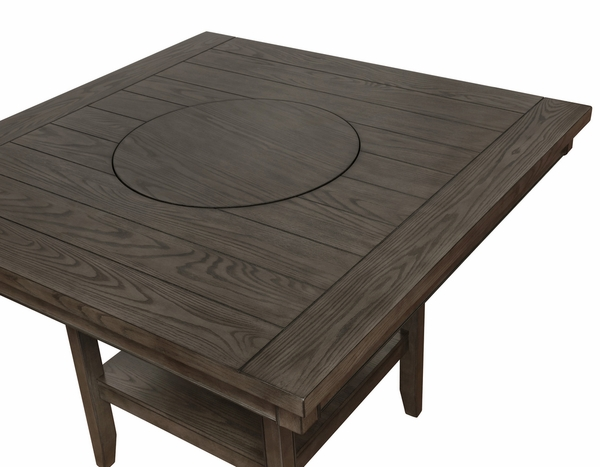 Fulton Grey Wood Square Counter Height Table by Crown Mark
