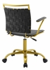 Fuse Black Faux Leather Office Chair by Modway