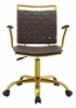 Fuse Brown Faux Leather Office Chair by Modway