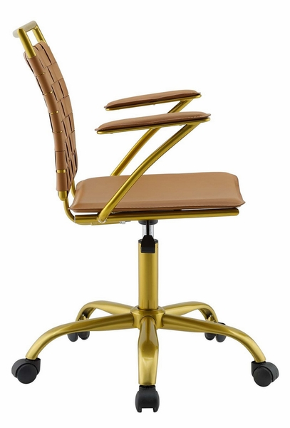 Fuse Tan Faux Leather Office Chair by Modway