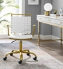 Fuse White Faux Leather Office Chair by Modway
