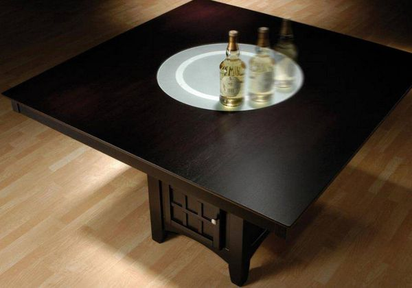 Gabriel Cappuccino Wood Square Counter Height Table by Coaster