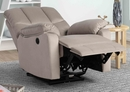 Gloria Light Brown Fabric Power Recliner by Milton Greens Stars