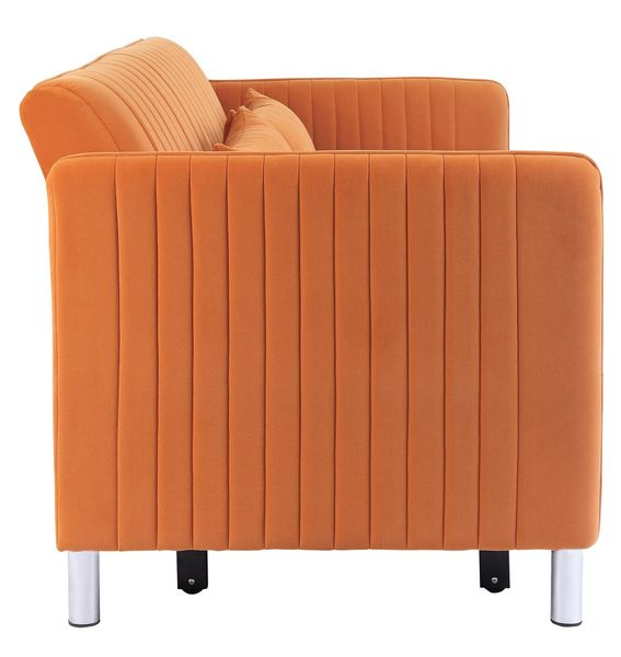 Greenway Orange Convertible Studio Sofa w/ Pull-Out Bed by Homelegance