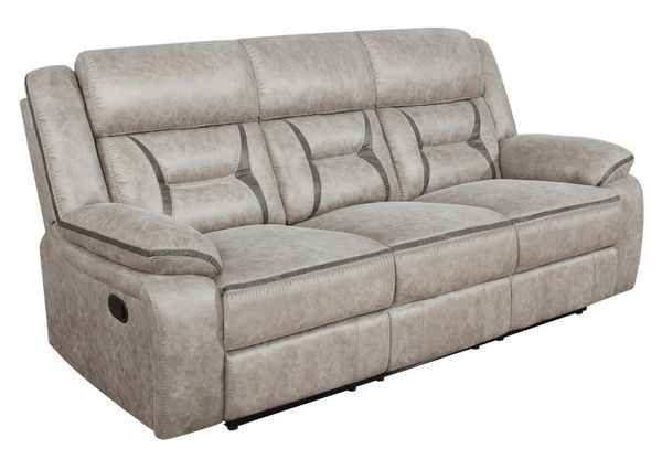 Greer 3-Pc Taupe Manual Recliner Sofa Set by Coaster