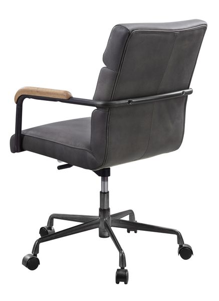 Halcyon Gray Top Grain Leather Office Chair by Acme