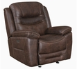 Hemer 3-Pc Chocolate Faux Suede 2xPower Recliner Sofa Set by Coaster