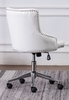 Hodiyah White Velvet Fabric Office Chair by Best Quality Furniture