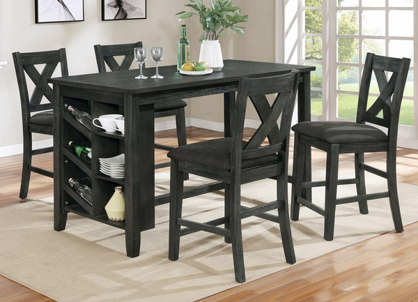 Irma Gray Wood Counter Height Table w/ Storage by Milton Greens Stars