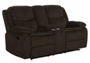 Jennings 2-Pc Brown Chenille Manual Recliner Sofa Set by Coaster