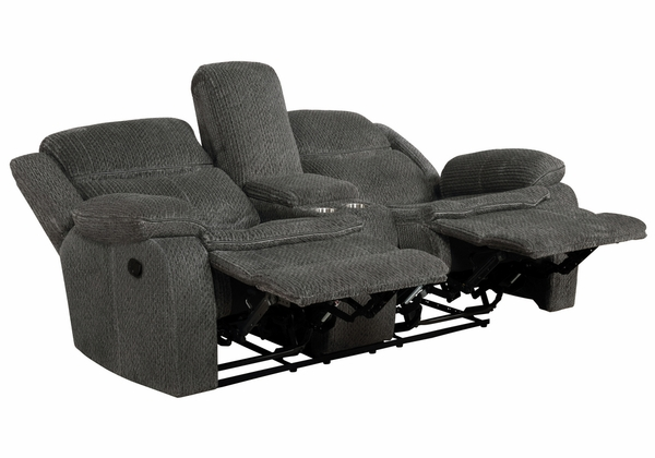 Jennings 2-Pc Charcoal Chenille Manual Recliner Sofa Set by Coaster