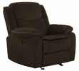 Jennings 3-Pc Brown Chenille Power Recliner Sofa Set by Coaster