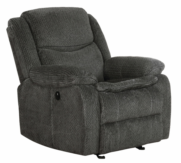 Jennings 3-Pc Charcoal Chenille Power Recliner Sofa Set by Coaster