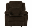 Jennings Brown Chenille Manual Glider Recliner by Coaster