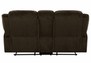 Jennings Brown Chenille Manual Recliner Loveseat by Coaster