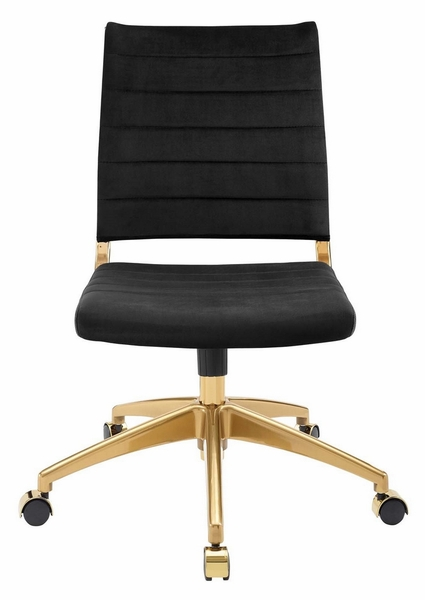 Jive Black Performance Velvet/Gold Mid Back Office Chair by Modway