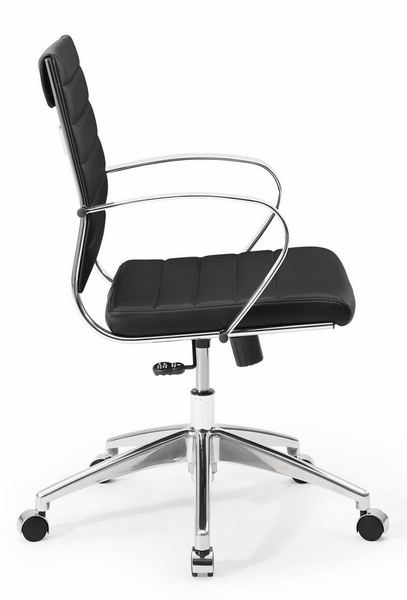 Jive Black PU Leather Mid Back Office Chair by Modway