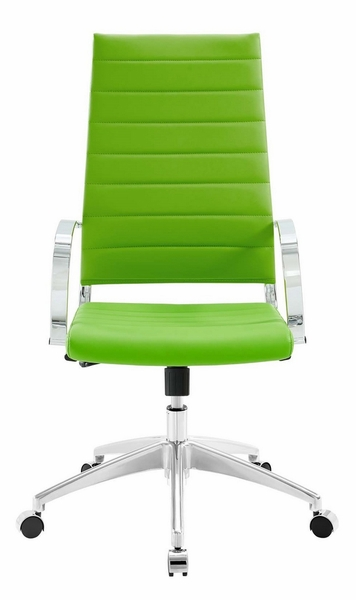 Jive Bright Green PU Leather Highback Office Chair by Modway