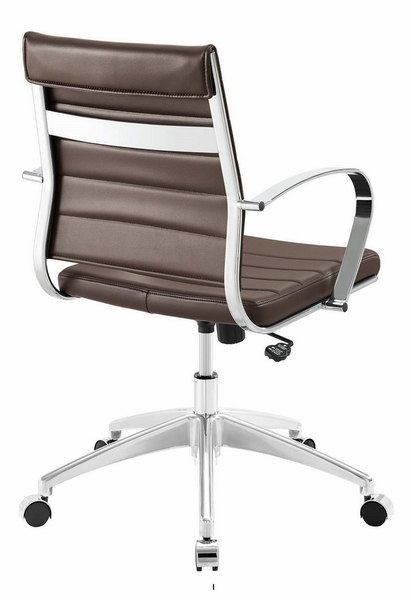 Jive Brown PU Leather Mid Back Office Chair by Modway