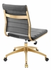 Jive Gray Performance Velvet/Gold Mid Back Office Chair by Modway