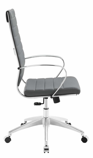 Jive Gray PU Leather Highback Office Chair by Modway