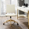 Jive Ivory Performance Velvet/Gold Mid Back Office Chair by Modway