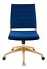 Jive Navy Performance Velvet/Gold Mid Back Office Chair by Modway