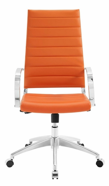 Jive Orange PU Leather Highback Office Chair by Modway