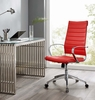 Jive Red PU Leather Highback Office Chair by Modway