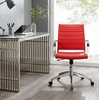 Jive Red PU Leather Mid Back Office Chair by Modway