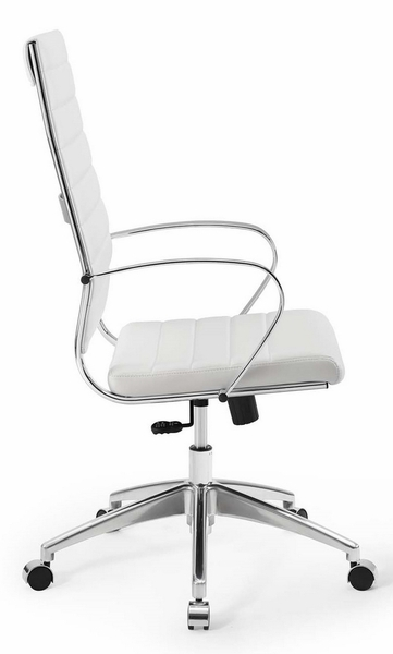 Jive White PU Leather Highback Office Chair by Modway