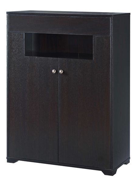 Kirsten Red Cocoa Wood Shoe Cabinet with 5 Shelves by ID USA