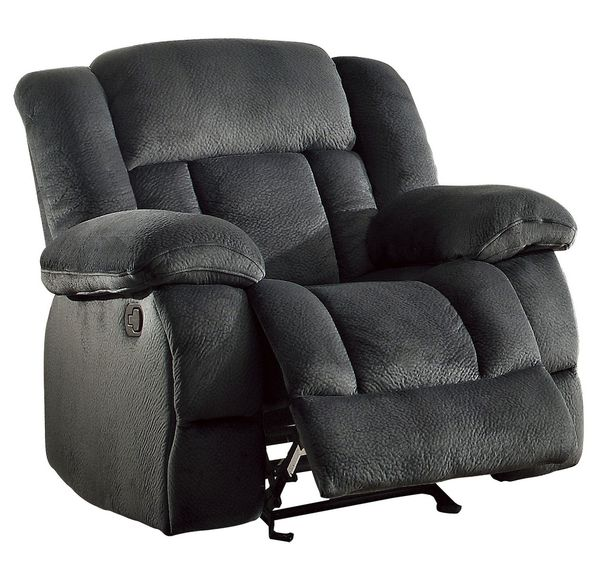 Laurelton Charcoal Fabric Manual Glider Recliner by Homelegance