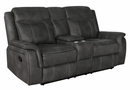 Lawrence 2-Pc Charcoal Manual Recliner Sofa Set by Coaster