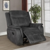 Lawrence Charcoal Manual Glider Recliner by Coaster