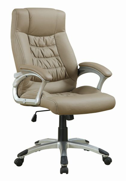 Letizia Taupe Leatherette Adjustable Office Chair by Coaster