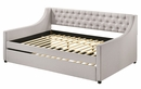 Lianna Fog Fabric Button Tufted Full Daybed by Acme