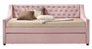Lianna Pink Velvet Button Tufted Twin Daybed by Acme