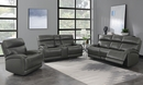 Longport Charcoal Leather Power Recliner Loveseat by Coaster