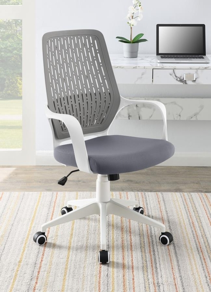 Lorelei Contemporary Grey/White Adjustable Office Chair by Coaster